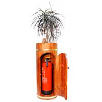 Design-Holzbehälter mit Tür für Feuerlöscher
