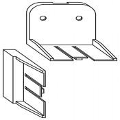 Ersatzbefestigungsset (2 Befestigungswinkel, 3 Endabschlüsse)