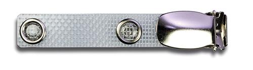 Metallclip mit textilverstärkter Lasche 1 Pack = 10 Stück