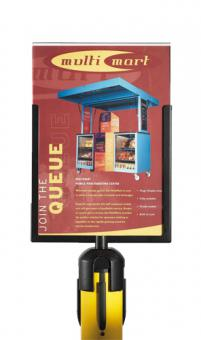 RS-Guideline Schildtafel, Plexieinschub DIN A4 Hochformat, Metallrahmen U-Form