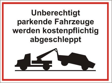 Kombiparkplatzschild mit Text und Symbol