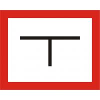 Symbol Hydrantenkennzeichnung, 2-farbig (schwarz, rot), ohne Plotterbeschriftung
