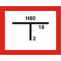 Symbol Hydrantenkennzeichnung, 2-farbig (schwarz, rot), inkl. Plotterbeschriftung