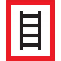 """Brandschutzschild DIN 4066 - E2 mit Symbol """"Stelle zum Anleitern"""""""