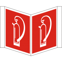 Nasenschild bedruckt mit 2 Symbolen Feuerlöscher nach BGV A8/F 05