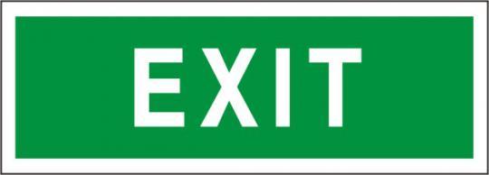 """Rettungsschild mit Text """"Exit"""""""
