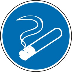 Gebotsschild als Symbol Rauchen gestattet