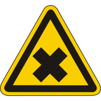 W18 / Warnschild als Symbol Warnung vor gesundheitschädlichen oder reizenden Stoffen nach BGV A8