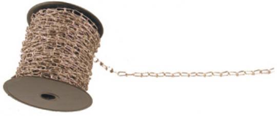 Knotenkette, vernickelt zur Montage von Deckenschildern u.a.