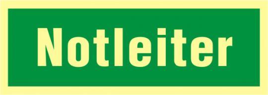 """Rettungsschild mit Text """"Notleiter"""""""