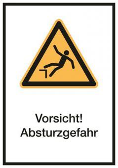 Vorsicht! Absturzgefahr Kombischild ASR A1.3 / ISO 7010 (W008)