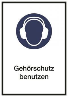 Kombischild Gehörschutz benutzen ASR A1.3 / M003