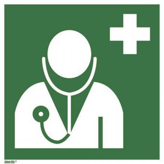ASR A1.3/ISO 7010 [E009] Arzt