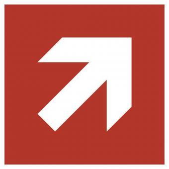 Richtungsangabe schräg (rot)