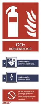 ASR A1.3 [F002] Brandschutzschild Feuerlöscher CO2 Kohlendioxid
