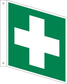 E003/Erste Hilfe als Fahnenschild