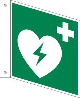 E010/Defibrillator als Fahnenschild