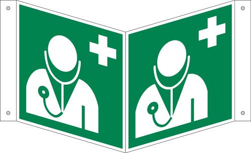 ASR A1.3/ISO 7010 [E009] Arzt, Nasenschild