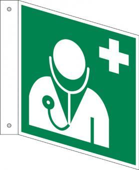 ISO 7010/E009 Arzt als Fahnenschild