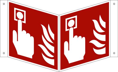 ISO 7010/F005 Brandmelder als Nasenschild