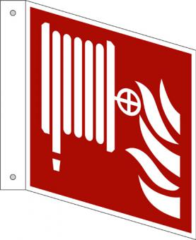 ISO 7010/F002 Löschschlauch als Fahnenschild