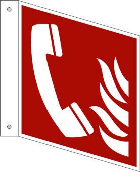ISO 7010/F006 Brandmeldetelefon als Fahnenschild