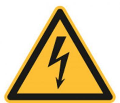 ASR A1.3 / ISO 7010 [W008] Warnung vor gefährlicher elektr. Spannung