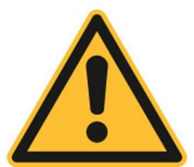 ASR A1.3 / ISO 7010 [W001] Warnung vor einer Gefahrstelle