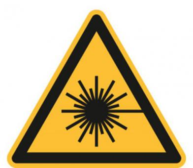 ASR A1.3/ISO 7010 [W004]/BGV A8 [W10] Warnung vor Laserstrahl
