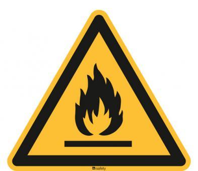 ASR A1.3/ISO 7010 [W021] Warnung vor feuergefährlichen Stoffen