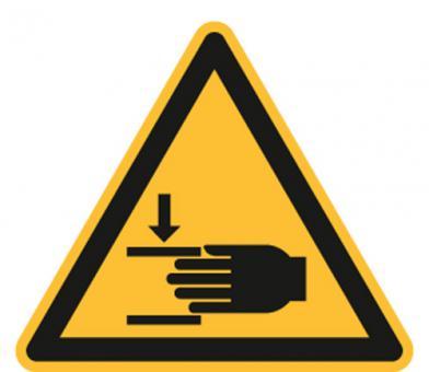 Warnung vor Handverletzungen ASR A1.3 / ISO 7010 (W024)