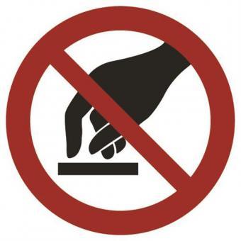 ASR A1.3 [P010]/BGV A8 [P08] Berühren verboten