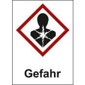 GHS 08 Gesundheitsgefahr Text: Gefahr
