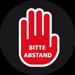 Button - BITTE ABSTAND