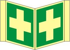 Nasenrettungsschild als Symbol Erste Hilfe nach ISO 7010