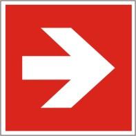 Brandschutzschild Richtungsangabe links/rechts nach ISO 7010 E 005