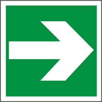 Rettungszeichen Symbol BGV A8 E 01, Richtungsangabe links/rechts/durch Ausgang