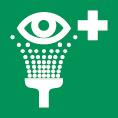 Rettungsschild als Symbol Augenspüleinrichtung nach BGV A 8