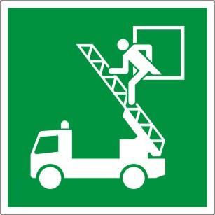 """Symbol nach ISO 7010 """"E 017 Rettungsfenster"""