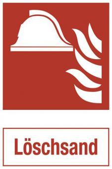 ASR A1.3/ISO 7010 [F004] - Brandschutz mit Zusatztext: Löschsand
