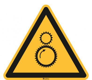 [WBP03] Warnung vor laufender Maschine 200mm | Folie selbstklebend | Stück