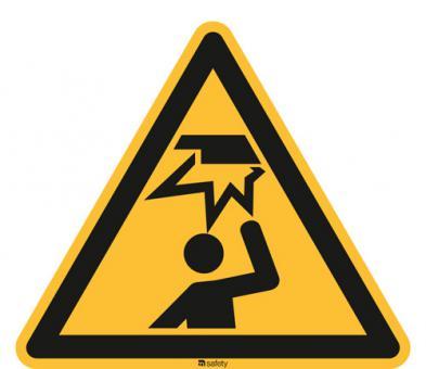 ISO 7010 [W020] Warnung vor Kopfverletzung