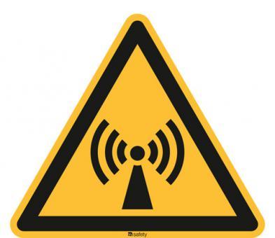 ASR A1.3/ISO 7010 [W005] Warnung vor nicht ionisierender, elektrom. Strahlung
