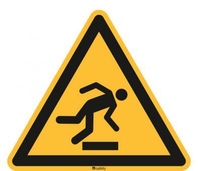 ASR A1.3/ISO 7010 [W007] Warnung vor Hindernissen am Boden