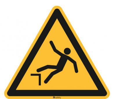 ASR A1.3/ISO 7010 [W008] Warnung vor Absturzgefahr