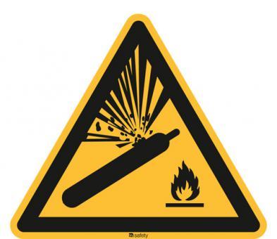 ASR A1.3/ISO 7010 [W029] Warnung vor Gasflaschen