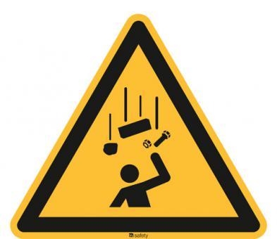ISO 7010 [W035] Warnung v. herabfallenden Gegenständen