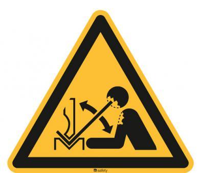 ISO 7010 [W032] Warnung v. hochschnellendem Werkstück in e. Presse