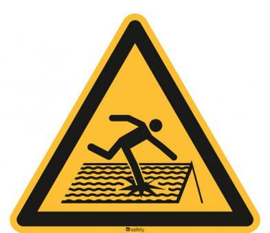 ISO 7010 [W036] Warnung v. nicht durchtrittsicherem Dach