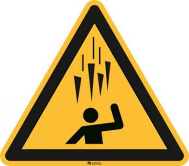ISO 7010 [W039] Warnung vor herabfallenden Eiszapfen